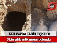 Tatlısu'da 3 bin yıllık antik mezar bulundu