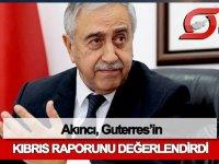 Akıncı, Guterres'in Kıbrıs raporunu değerlendirdi