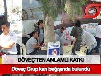 Döveç Grup'tan Kuzey Kıbrıs Kızılay'ına kan bağışı