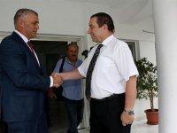 Serdar Denktaş, Maliye Bakanlığı görevini Olgun Amcaoğlu'na teslim etti