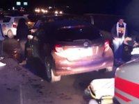 Lefkoşa Mağusa yolunda 4 araç çarpıştı