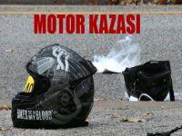 Girne'de motor kazası!