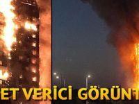 Londra'da 24 katlı binada yangın dehşeti!