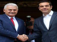 Yıldırım ve Çipras görüştü: BM kararları çerçevesinde çözüm!