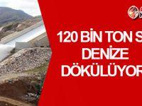 Türkiye'den gelen suyun 120 bin tonu denize dökülüyor!
