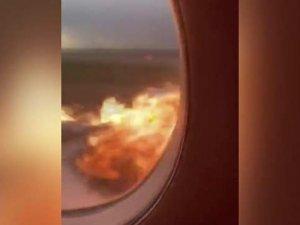 Rusya'da yanan uçaktaki yolcu, facia anlarını kaydetti